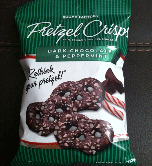 Snack Factory White Chocolate Peppermint Pretzel Crisps