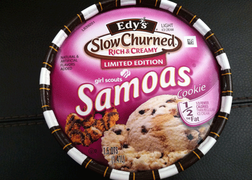edy s limited edition slow churned rich creamy girl scout samoas