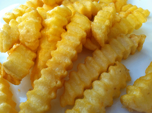 how to crinkle cut fries