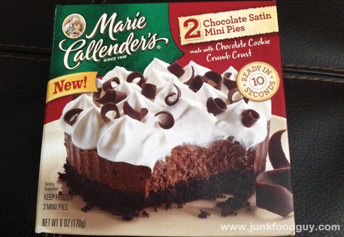 Marie Callender S Chocolate Satin Mini Pies New