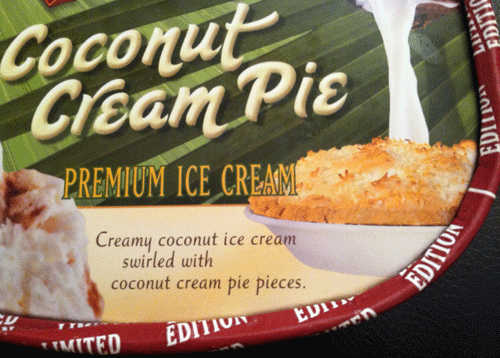Limited Edition Turkey Hill Coconut Cream Pie Ice Cream