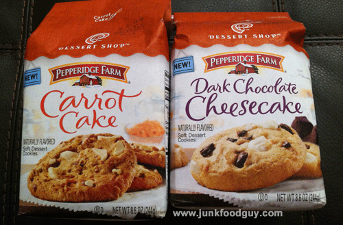 New Pepperidge Farm Dessert Shop Carrot Cake Cookies & Dark Chocolate Cheesecake Cookies