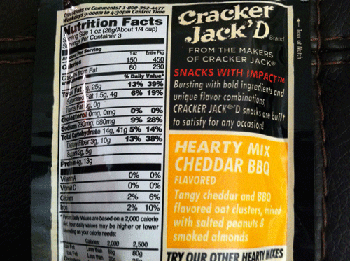 New Cracker Jack'D Cheddar BBQ Hearty Mix
