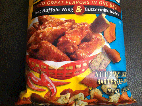 New Snyder's of Hanover Flavor Doubles Hot Buffalo Wing & Buttermilk Ranch Pretzels