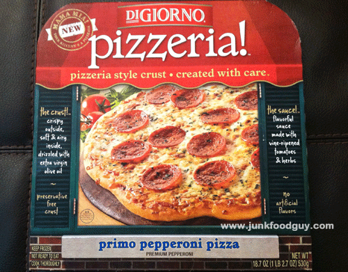 New DiGiorno's Pizzeria! Primo Pepperoni Pizza