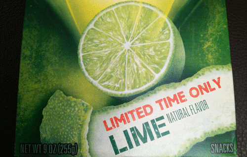Limited Time Only Lime Wheat Thins