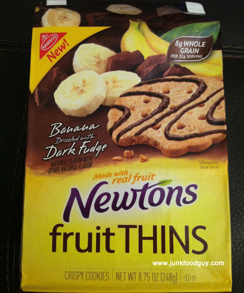New Banana Drizzled w/ Dark Fudge Newtons Fruit Thins