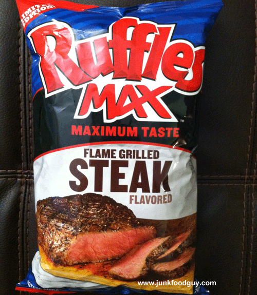 Limited Edition Ruffles Max Flame Grilled Steak Potato Chips