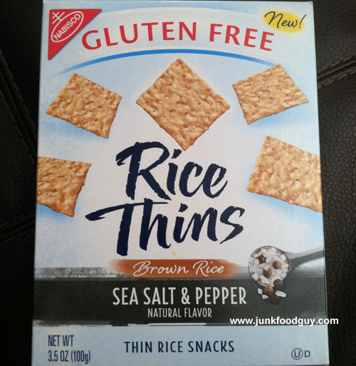 New Nabisco Gluten-Free Sea Salt & Pepper Rice Thins