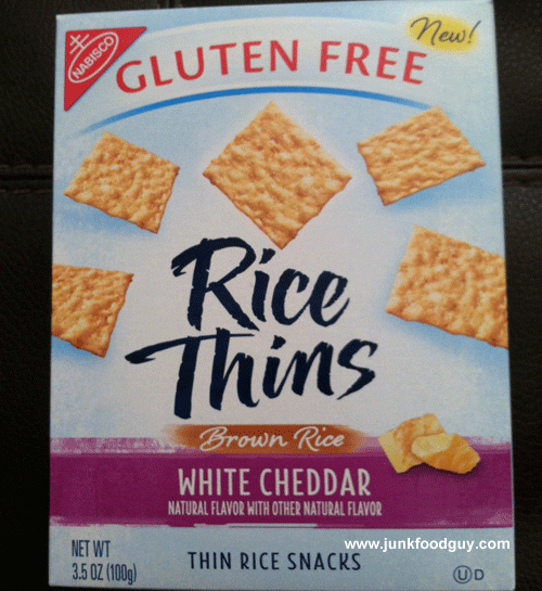 New Nabisco Gluten-Free White Cheddar Rice Thins