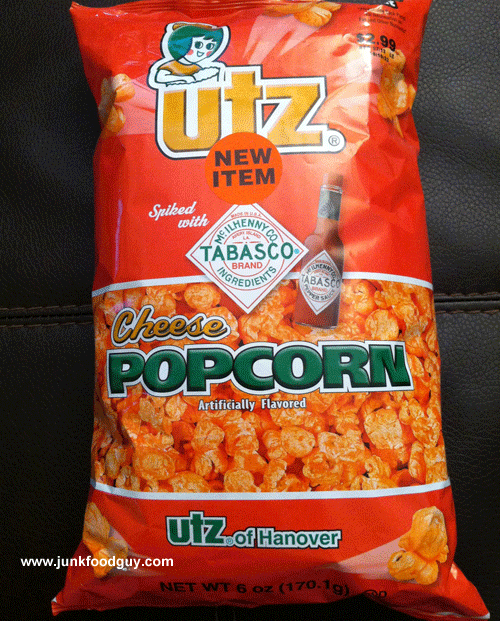New Utz Tabasco Spiked Cheese Popcorn
