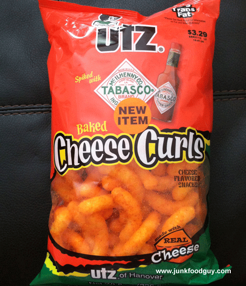 New Utz Tabasco Spiked Cheese Curls